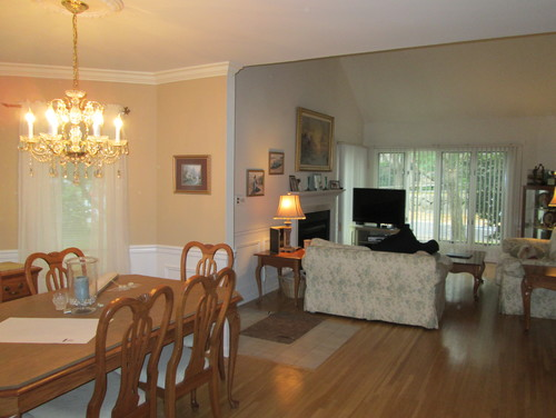Should I Do A Curtain And If So What Style My Dining Room Joins The Living It Is One Big Space Match Curtains For Flow