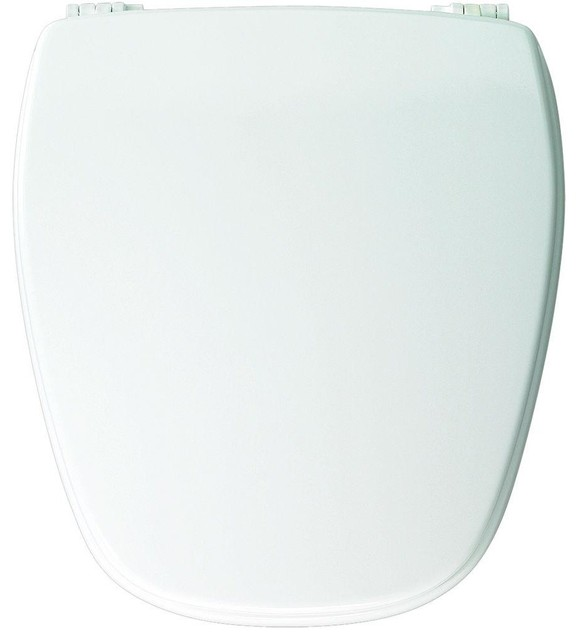 Church Bemis NW209E10 Round Closed Front Toilet Seat With Plastic Hinges Mo