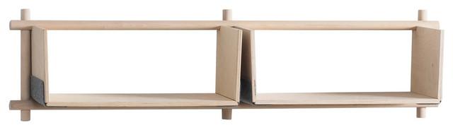 Foldin Horizontal Wall-Mounted Shelving Unit, Horizontal, 1 Shelf