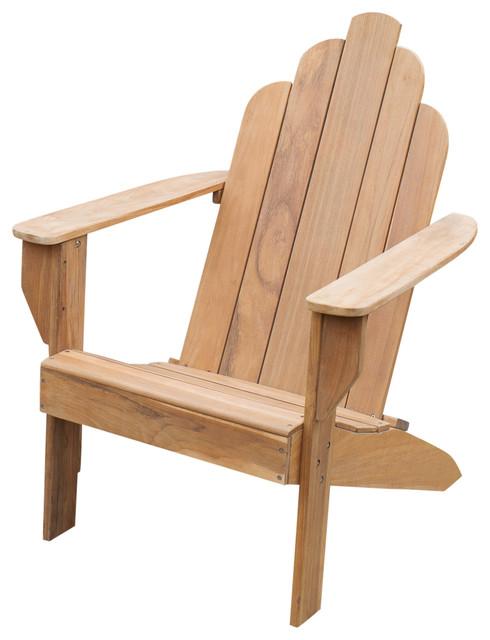 Cambridge Casual Sherwood Teak Adirondack Chair Transitional