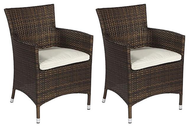 91c91be98154 Savannah Rattan Garden Chairs, Set of 2 - Modern - Garden Dining Chairs -  by Modern Furniture Direct
