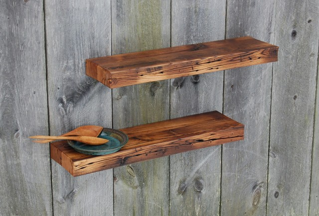 Two barn wood floating shelves 35 quot x 9 25 quot kitchen bath eclectic