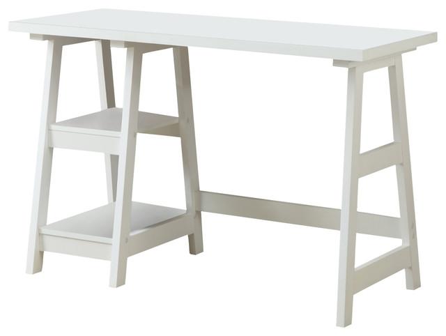 Trestle Desk, White.