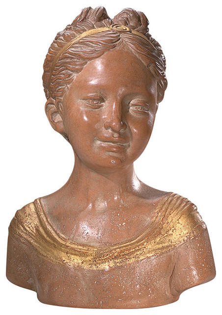 Marioni Bust Of Girl With Ponytail.