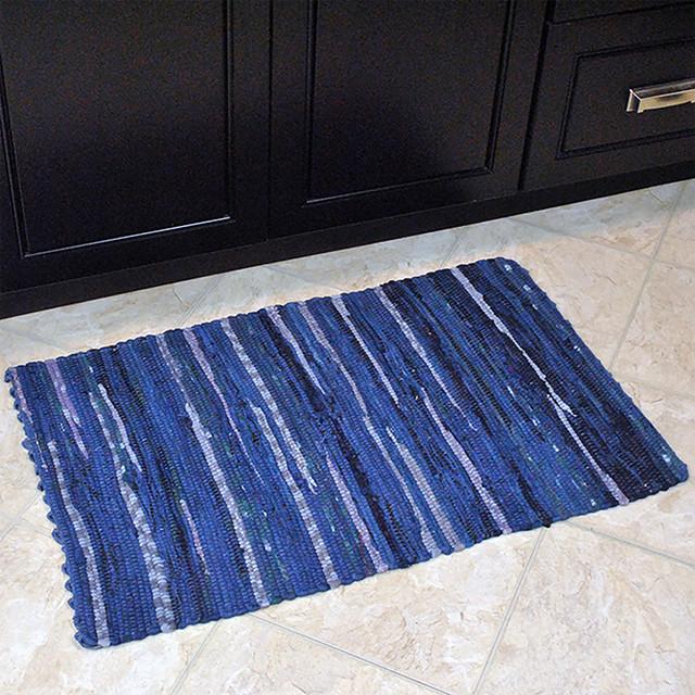 Design Imports Blue Chindi Rug