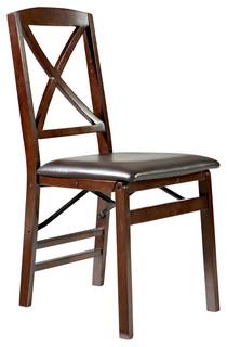 Triena X Back Folding Chairs, Set of 2