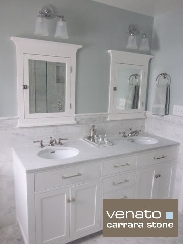 7 00sf Carrara Subway Tile Marble 3x6 Quot Traditional