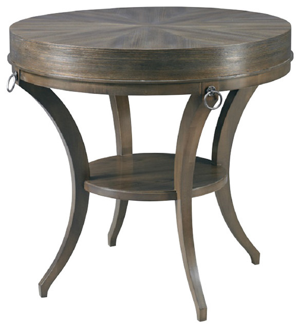 Charming Hickory White Ruby Side Table 243 22 Contemporary Side Tables And