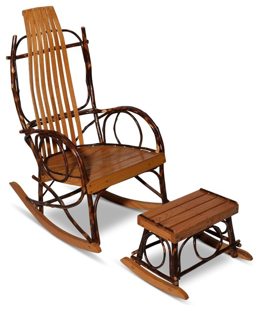 Consigned Vintage Amish Bentwood Rocker And Footstool Tropical - Antique bentwood rocker rocking chair