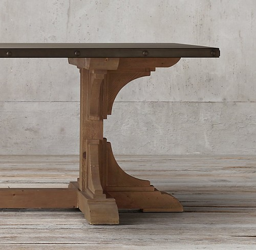 Zinc Top Table   Care And Durability.
