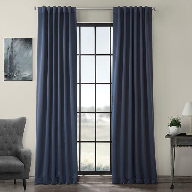 Nocturne Blue Blackout Curtain Set Of