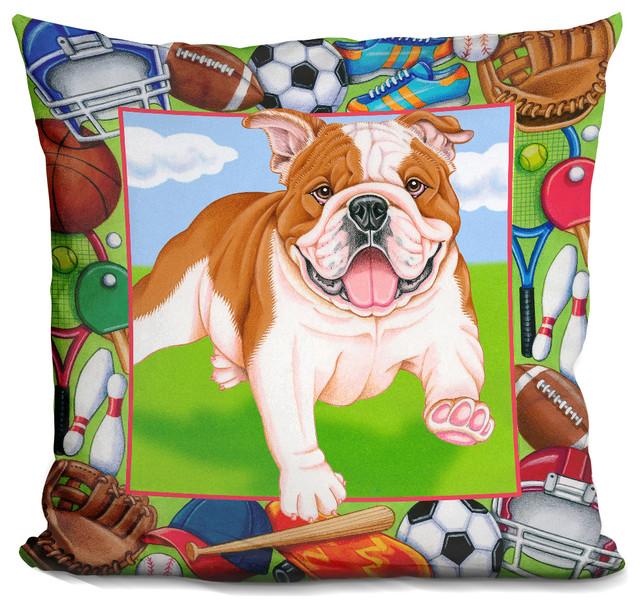 LiLiPi Robin Bulldog Decorative Accent Throw Pillow