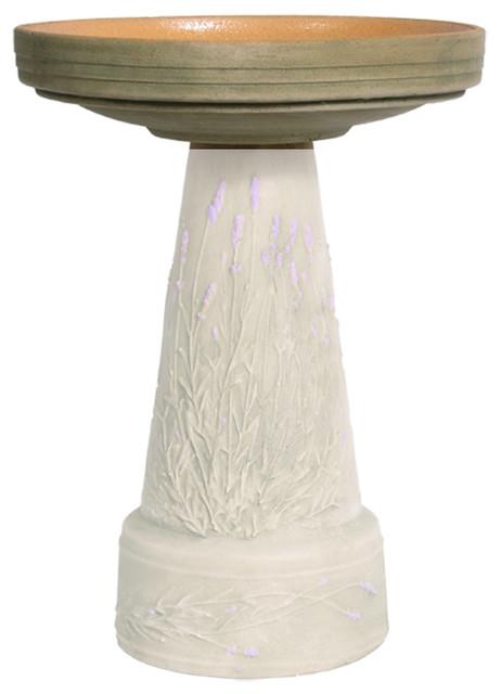Replacement Birdbath Bowl Top For Purple Lavender