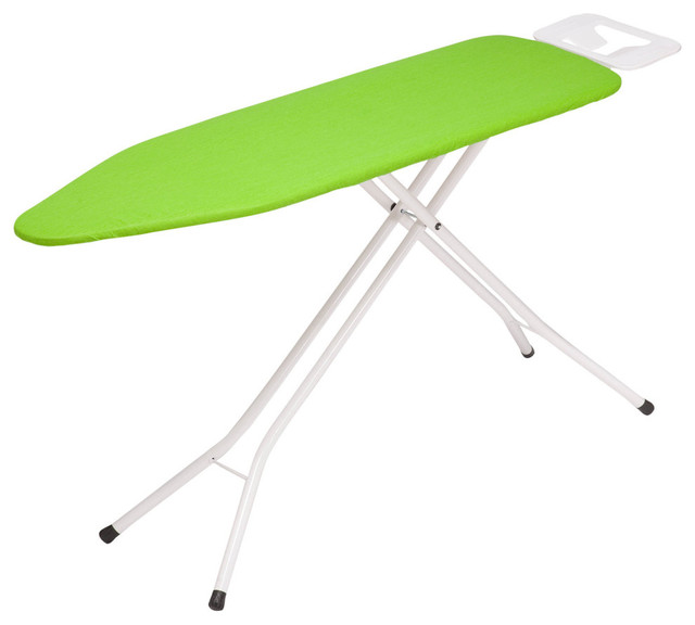 4 Leg Metal Ironing Board With Iron Rest.