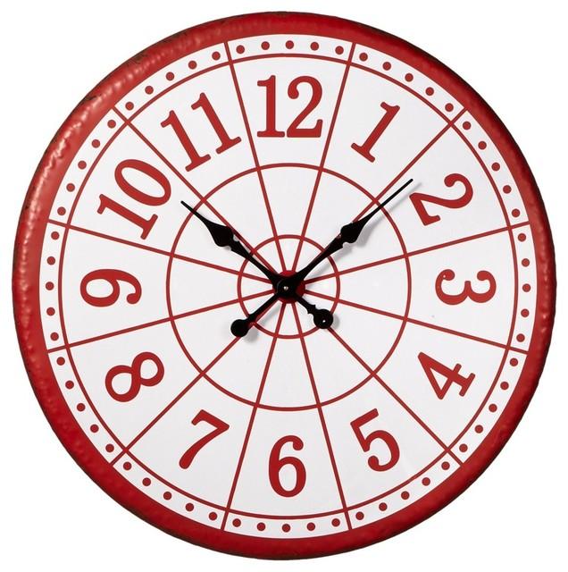 Target Wall Decor Clock : Midwest cbk target wall clock red clocks houzz