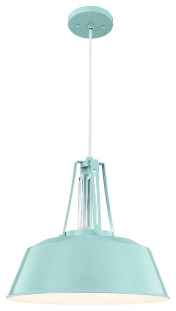 Freemont 1-Light Pendants, Hi Gloss Blue.