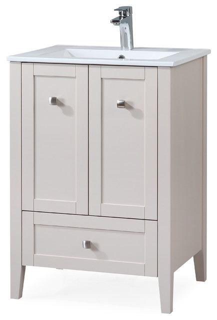 25 Vermezzo Modern Taupe Bathroom Vanity Transitional Bathroom Vanities And Sink Consoles By Chans Furniture Houzz
