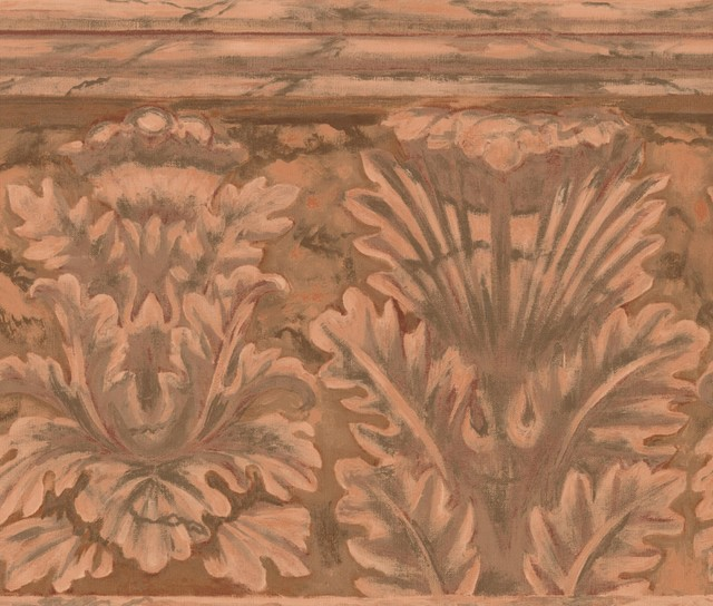 Brown Red Damask Abstract Wallpaper Border Paint By Design