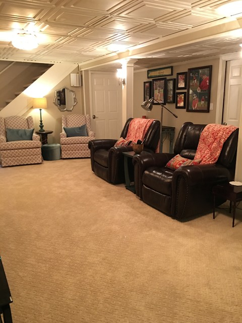 Basement Redesign And Interior Design Traditional Basement Atlanta By Timeless Charm