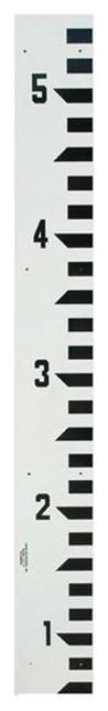 Adirpro 7 Wide Stream Gauge (10ths/feet) 0.5&x27;, 5.5&x27;.