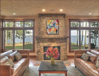 Interior Designers Decorators Cousins Island Maine Great Room Modern Living Room