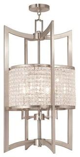 Livex Lighting 50569-91 Grammercy Outdoor Hanging Light In Brushed Nickel