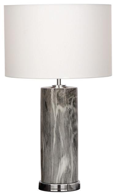Urban Designs Manhattan Column Ceramic Table Lamp.