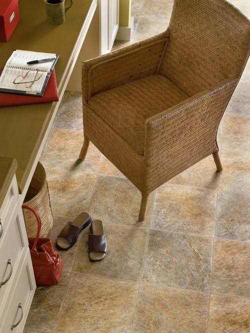 traditional vinyl flooring Peruvian Slate series vinyl sheet flooring from Armstrong