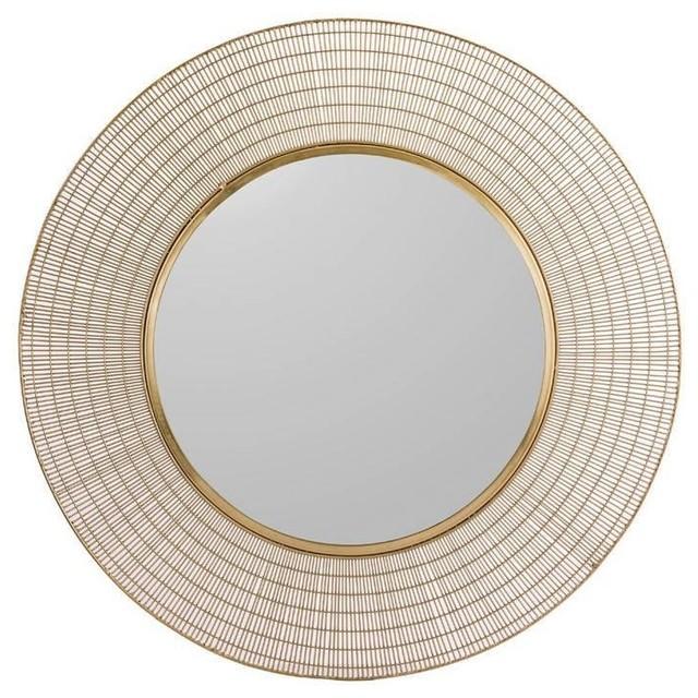 Mieke Decorative Gold Wall Mirror, 90 cm