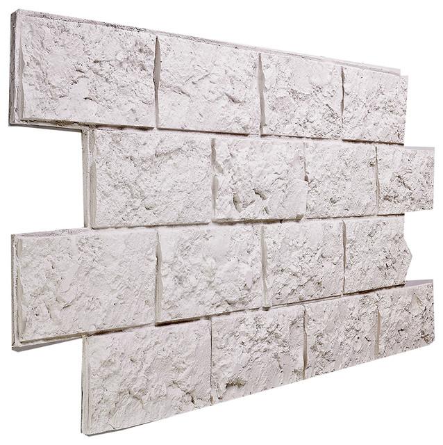 large jerusalem brick wall panel stone white