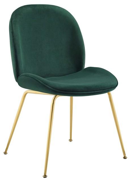 Fabulous Scoop Gold Stainless Steel Leg Velvet Dining Chair Green Dailytribune Chair Design For Home Dailytribuneorg