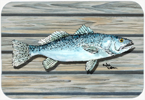 c10a3f6b670a Speckled Trout on the Wharf Glass Cutting Board - Beach Style - Cutting  Boards - by the-store