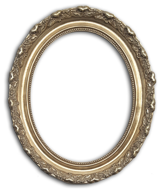 Gold Leaf Ornate Oval Picture Frame Solid Wood - Victorian - Picture ...