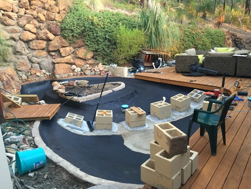 Pond sealer drying times for Koi pond sealer