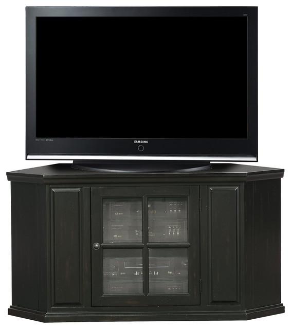 Leick Furniture Riley Holliday Black Rub 46 Corner Tv Stand