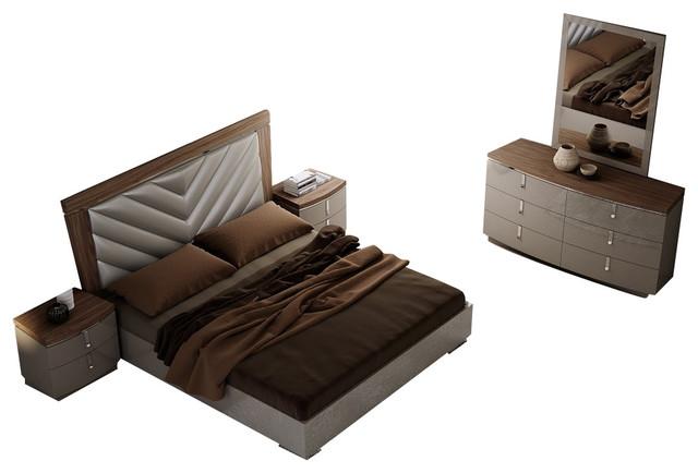 Napa Premium Modern Bedroom Set, Queen Size