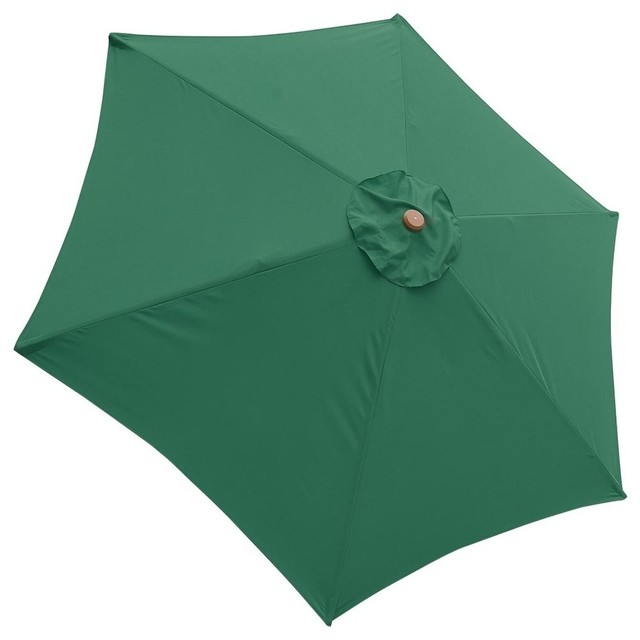6-Rib Umbrella Replacement Canopy Cover, Green.