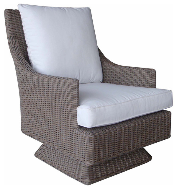 Cayman Islands Outdoor Swivel Chair Tropical Outdoor Lounge