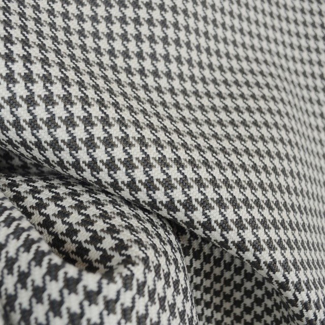 D2924 Houndstooth Charcoal Upholstery Fabric