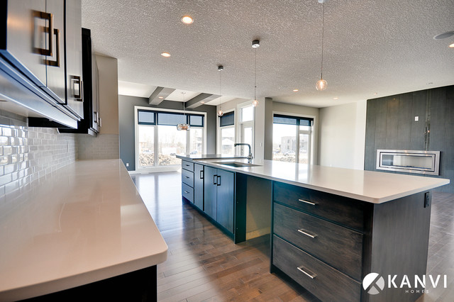 The Fusion Contemporary Kitchen Edmonton By Kanvi Homes