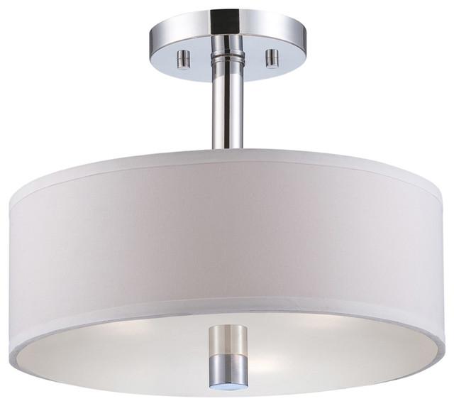 Cordova 3-Light Semi-Flush Mounts, Chrome.