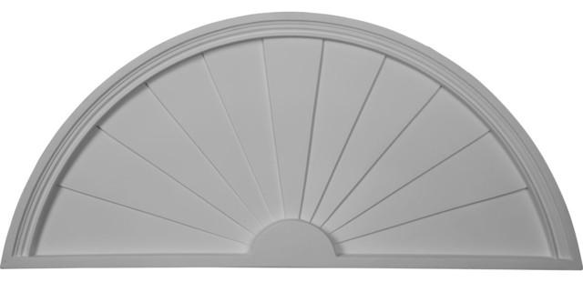 Ekena millwork half round sunburst pediment 31 3 4 w x for Half round buildings