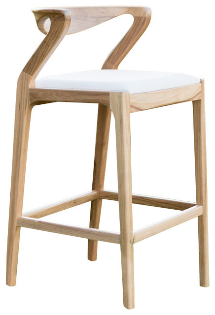 Duda Stool Natural Wood With Off-White Fabric transitional-bar-stools-  sc 1 st  Houzz & Duda Stool - Transitional - Bar Stools And Counter Stools islam-shia.org