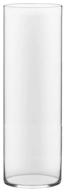 "Tall Glass Cylinder Vase, 30""x10"""