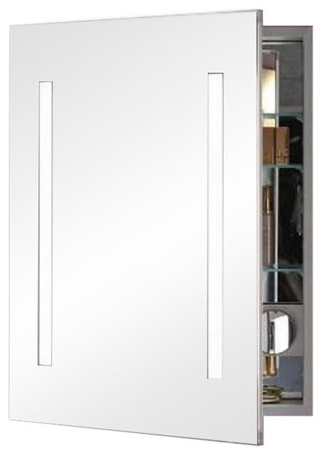 "Robern Ac2430d4p1l Aio 24""x30""x4"" Single Door Medicine Cabinet, Mirrored."