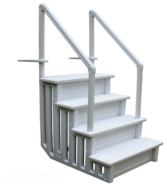 Above Ground Swimming Pool Ladder Heavy Duty Step System Entry non ...