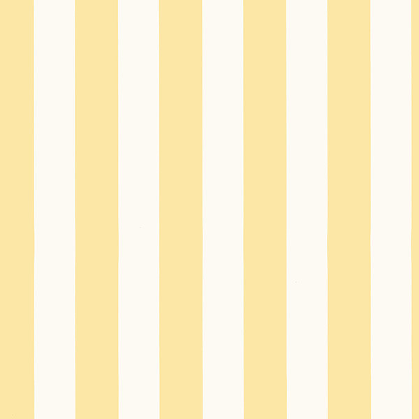 1 25 Wide Vertical Stripe Wallpaper Yellow And White Sample