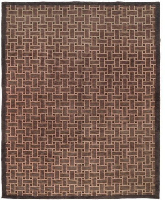 Safavieh contemporary tibetan area rug hall and stair for Contemporary runner rugs for hallway