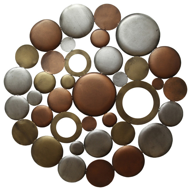 Metal Circle Wall Decor stratton home decor multi metallic circle burst wall decor