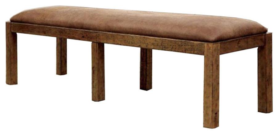 Superb Gianna Transitional Bench Rustic Pine Inzonedesignstudio Interior Chair Design Inzonedesignstudiocom